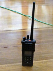 This is one of the new Motorola portable radios Chemung