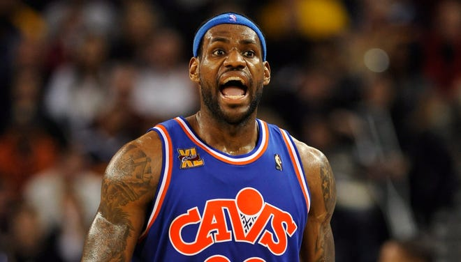 LeBron James with the Cavaliers in 2010.