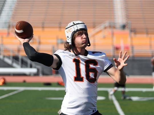 "Los Angeles Rams quarterback Jared Goff practices with Ventura College as ""Dreaj Foge,"" a potential transfer arriving to compete for the quarterback job on April 9."