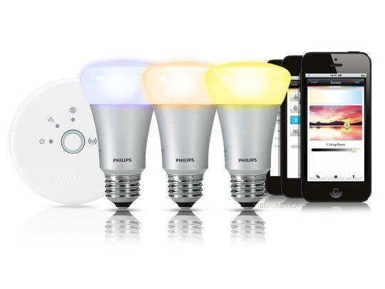The Philips Hue smart lightbulbs.