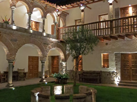 The Libertador, an almost 500-year-old mansion, is near the main square of activity in Cusco, Peru.