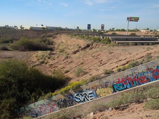 Pit along Interstate 10