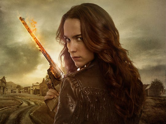 "Melanie Scrofano stars as the title character in Syfy's ""Wynonna Earp."""