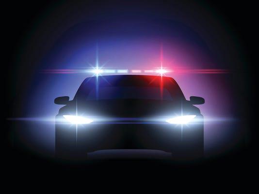 Police car lights effect