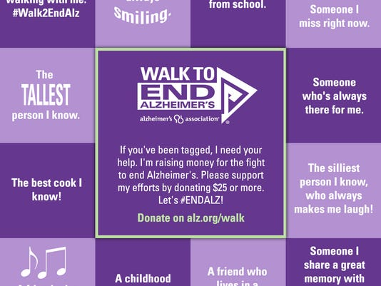 Walk to End Alzheimer's donation cube