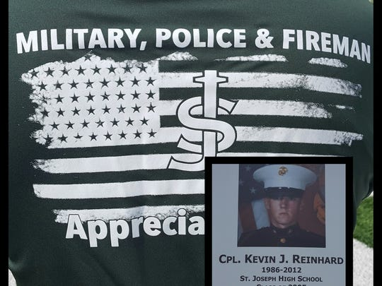 St. Joseph will pay tribute on Saturday to fallen Cpl. Kevin J. Reinhard, a 2005 St. Joseph graduate from Colonia who was one of six Marines killed in 2012 while serving during Operation Enduring Freedom when their helicopter crashed in Afghanistan.