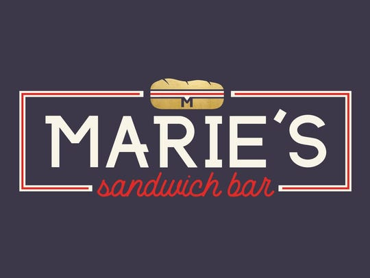 The newly designed logo for Marie's Sandwich Bar, which