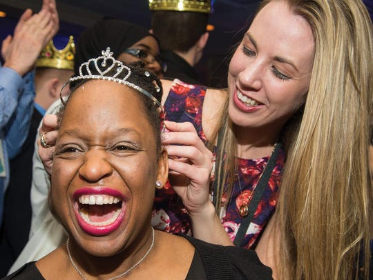 "A guest is crowned prom queen during a previous ""Night"