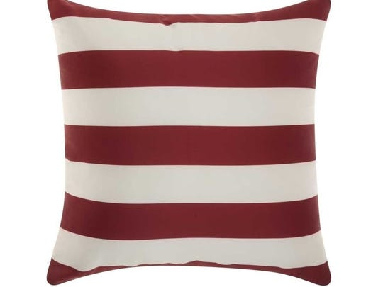 Stripes Red and White Pillow from Houzz