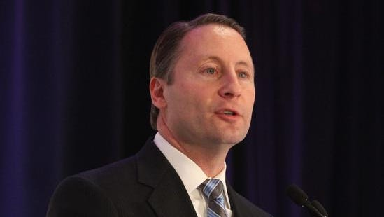 County Executive Rob Astorino speaks at the Westchester County Association breakfast at the Westchester Marriot Jan. 23, 2014.