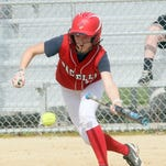 Pacelli's Ashleigh Fuchs races to third with a triple Thursday against Port Edwards in a WIAA Division 4 regional game in Plover.
