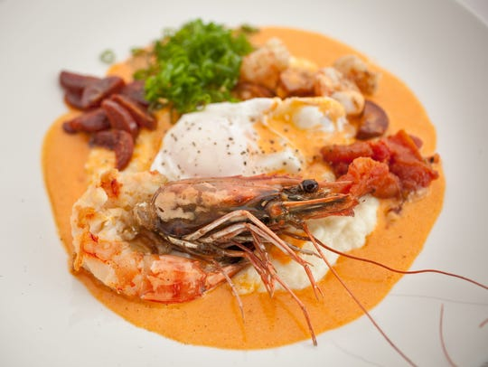 The shrimp and grits at Elements at Sanctuary Resort and Spa in Paradise Valley.