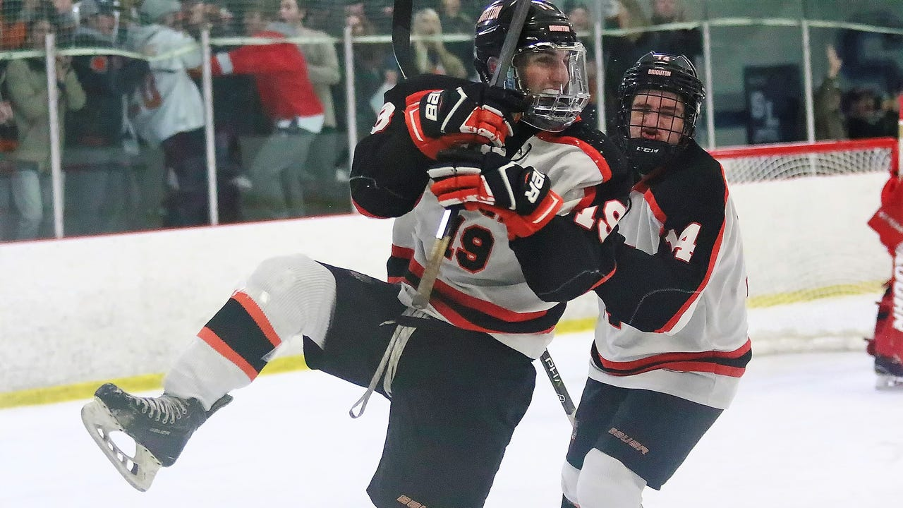 Highlights from Brighton's 3-2 win over Orchard Lake St. Mary's in a clash between state-ranked Division 1 hockey teams.