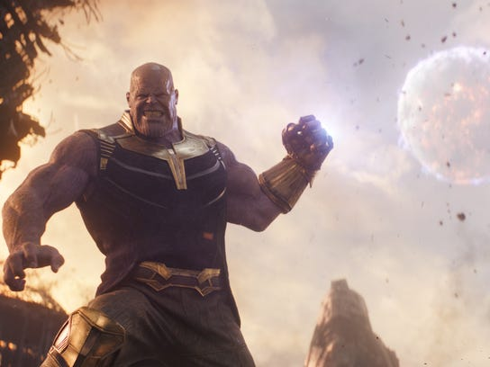 "Thanos (Josh Brolin) in Marvel Studios' ""Avengers: Infinity War."""