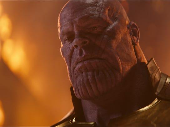 "Thanos (Josh Brolin) in ""Avengers: Infinity War."""
