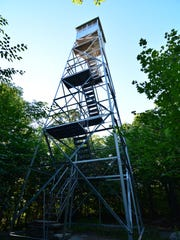 The fire tower at the top of Mount Tremper offers a spectacular view.