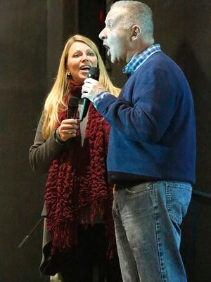 """John McGivern and Lois Maurer, the producer and director of """"Around the Corner,"""" talk about their experience in Fond du Lac at the Thelma Sadoff Center for the Arts Wednesday night."""