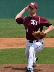 Blake McKnight was the first Evangel University baseball