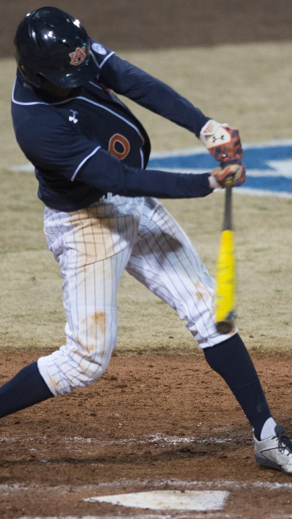 In what was likely his final college game, Auburn outfielder Anfernee Grier had two home runs in a 4-3 loss at No. 9 Vanderbilt Saturday. The loss knocked Auburn (23-33, 8-22 in SEC) out of the Southeastern Conference tournament.
