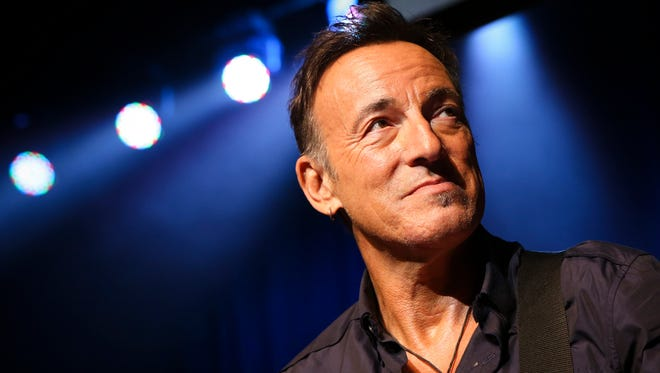 Bruce Springsteen at the Stand Up for Heroes event at Madison Square Garden in New York on Nov. 7. A handwritten working manuscript of 'Born to Run' will be auctioned at Sotheby's next week.