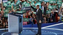 Sen. Cory Booker, D-N.J., wraps up his speech during