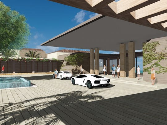 A conceptual rendering of the Ritz-Carlton resort planned