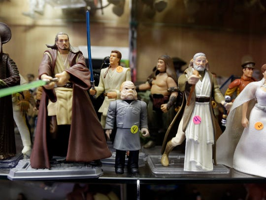A line of of Star Wars figures Tuesday December 1,