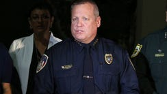Kissimmee Police Chief Jeff O'Dell is pictured speaking