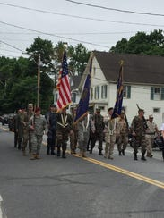 Local veterans march in the Pine Plains Memorial Day