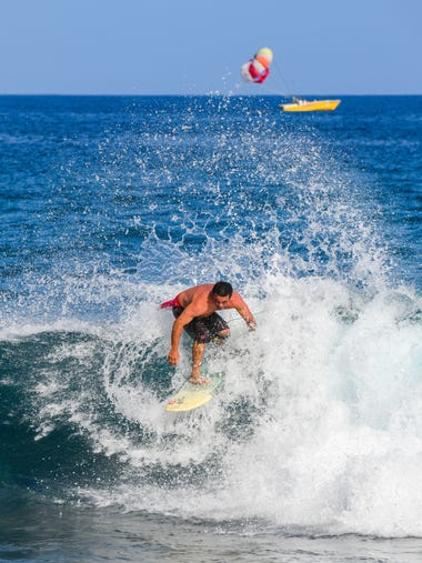 Island surfers compete in the 2018 Monster Surf the