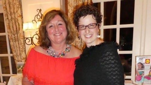 Victoria Bennett, executive director of the YMCA's Camp Bernie, left, with Camp Bernie Senior Program Director Julie Jester.
