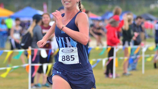 Marco Island Academy's Olivia Watt finished seventh in the Class 1A-Region 2 meet at Holloway Park in Lakeland on Friday, Nov. 3, 2017.