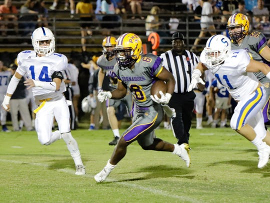 Purvis running back John Bolton helped lead the Tornadoes