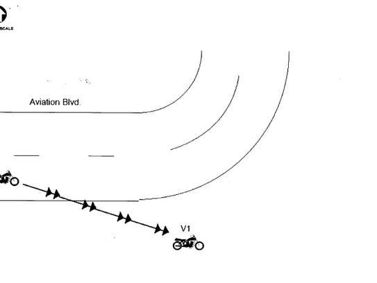 A diagram of the July 15 crash