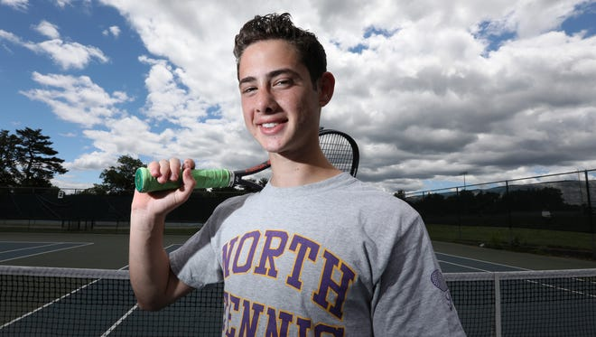 Clarkstown North's Ethan Jacobs, Rockland tennis player of the year June 15, 2018.