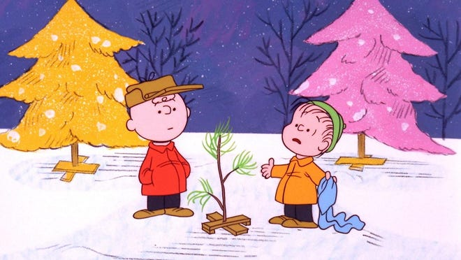 "Charlie Brown and Linus go tree-shopping in the holiday classic ""A Charlie Brown Christmas."""