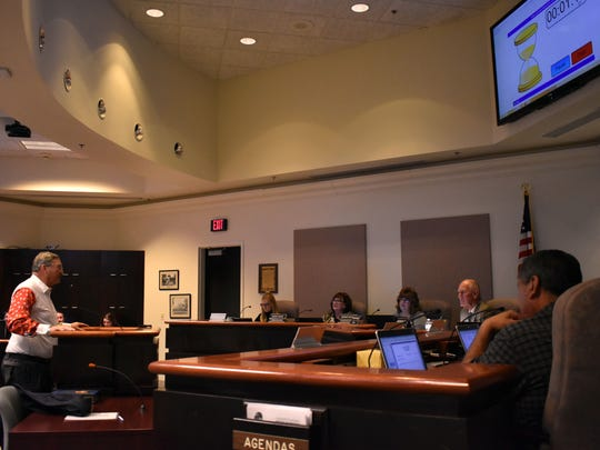 Airport Manager Jim Talbert went before City Commissioners