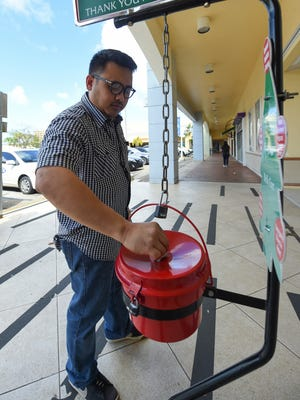 Donations to the Salvation Army's Red Kettle campaign are down this year.