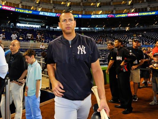 USP MLB: NEW YORK YANKEES AT MIAMI MARLINS S BBN USA FL