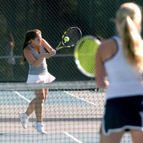 Roberson's Audrey Chor returns a shot during a recent match for the Rams.