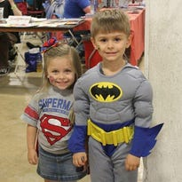 Ellis and Bratton Harris of Spartanburg pose in costume at last year's S.C. Comicon.