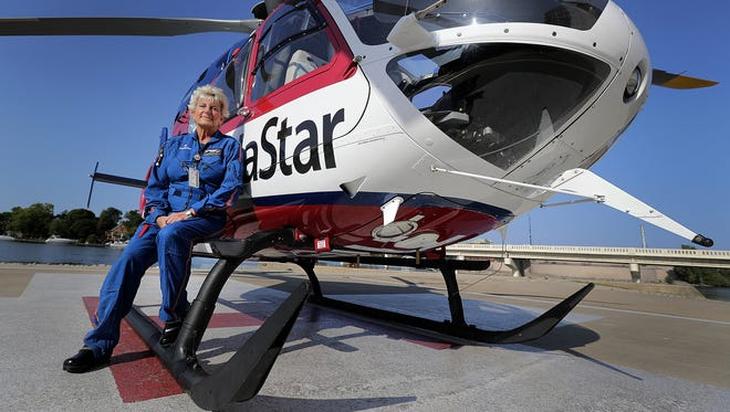Pam Witt-Hillen is retiring after decades of service on the air medical helicopter  ThedaStar.