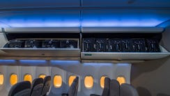 """Boeing's new """"Space Bins"""" will accommodate six standard-size"""