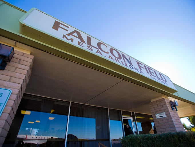 The exterior of Falcon Field Airport in Mesa on January