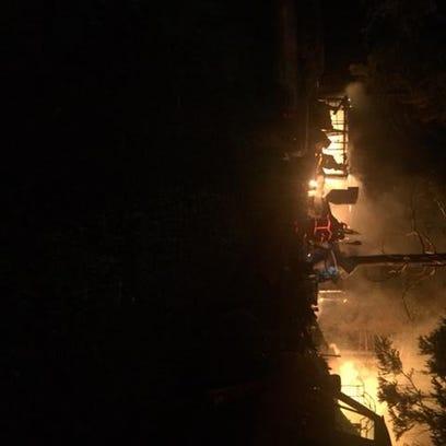 structure fire near Eloika Lake.