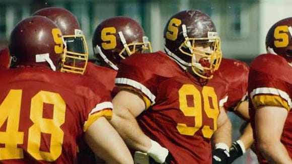 Dan Quinn (99) is a Salisbury University graduate and was inducted into its Athletics' Hall of Fame.