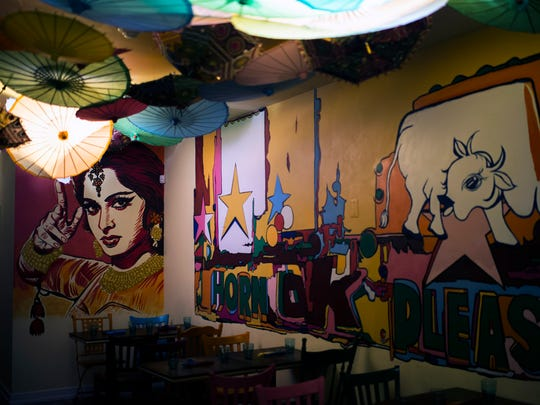 The dining area inside Chaat + Chai on Snyder Ave in South Philadelphia.