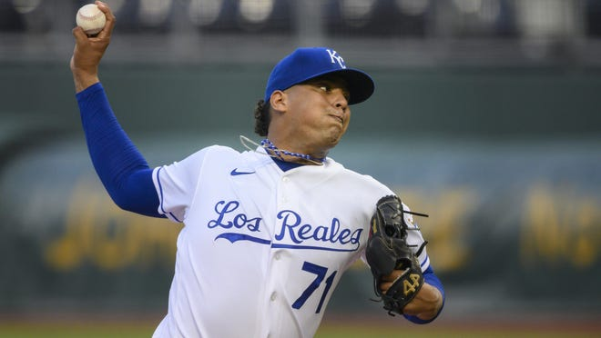Kansas City Royals starting pitcher Carlos Hernandez (71) made the most of an unusual summer, capitalizing on his opportunity to join the major league club.