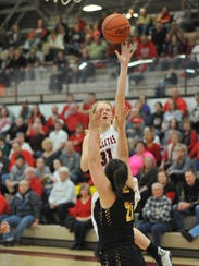 Kyleigh Brown puts up a layup.