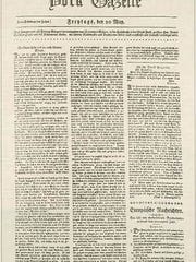 This was that 1796 German-language newspaper, run by